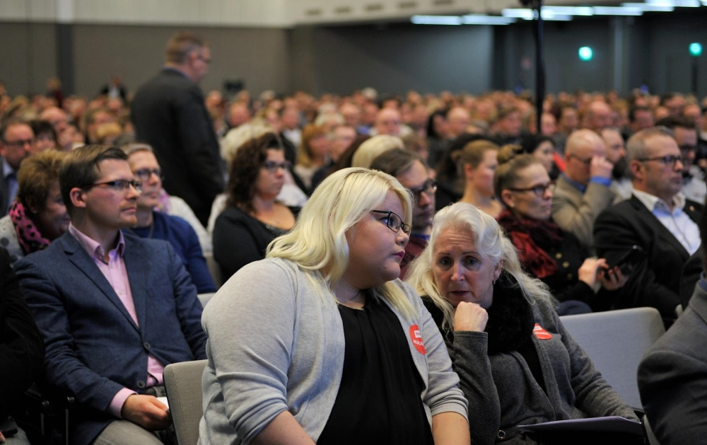 Hallituksen lakiesitykset ovat aiemminkin saaneet ammattillitot liikkeelle. Tammikuussa aktiivimallia käsiteltiin SAK:n liittojen hallintojen kesken Helsingissä. Kuva: Kiti Haila