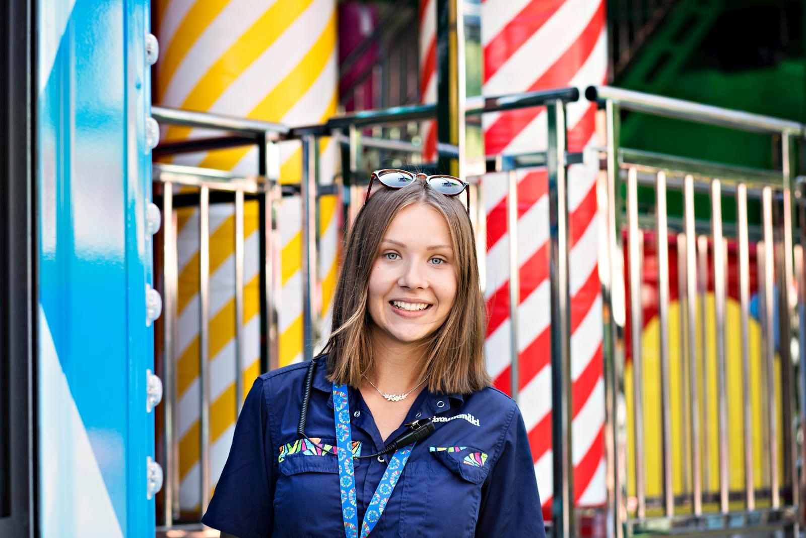 Huvipuistotyö oli Ida Kettusen lapsuudenhaave, joka toteutui viisi vuotta sitten. Kuva: Eeva Anundi