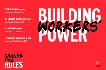 Työntekijän oikeudet pinnalla - Maailmanjärjestö ITUCin kongressi koolla Tanskassa