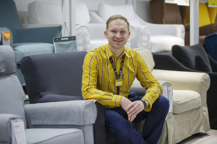 Marcus Krogell, huvudförtroendeman på Ikea i Finland: Allt mer deltidsarbete men också bättre dialog med arbetsgivaren