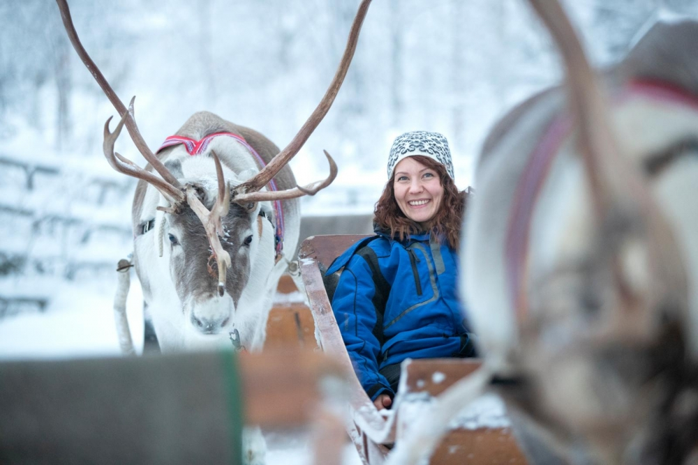 Sanna Heinonen works as a safari guide in Rovaniemi for her first season. Image: Kaisa Sirén