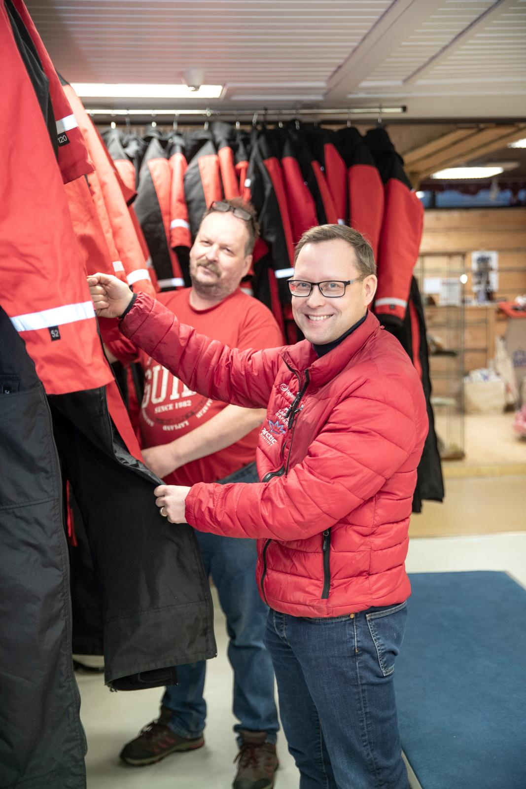 Risto Vuento and Rami Korhonen in the equipment storage room. Image: Kaisa Sirén