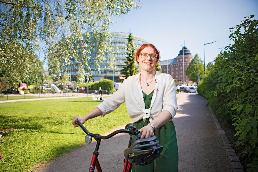 """""""Välitän PAMista, koska olen itsekin pamilainen. Haluan että PAM on tulevaisuuteen katsova, kehittävä ja kehittyvä liitto"""", sanoo Annika Rönni-Sällinen. Kuvat: Eeva Anundi"""