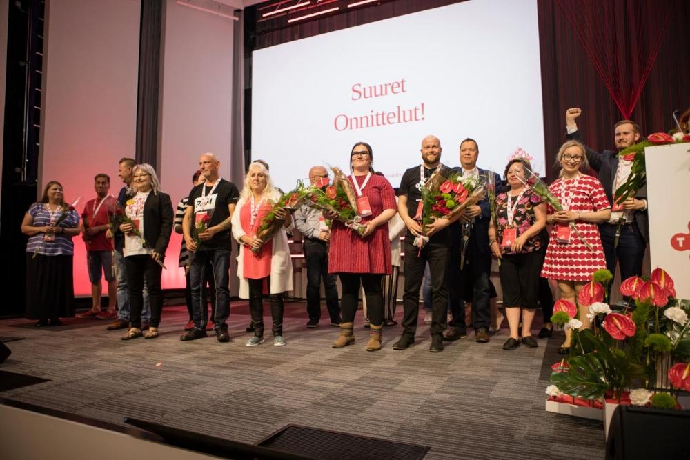PAMin uusi hallitus valittiin Helsingin liittokokouksessa 5. kesäkuuta. Kuva: Eeva Anundi