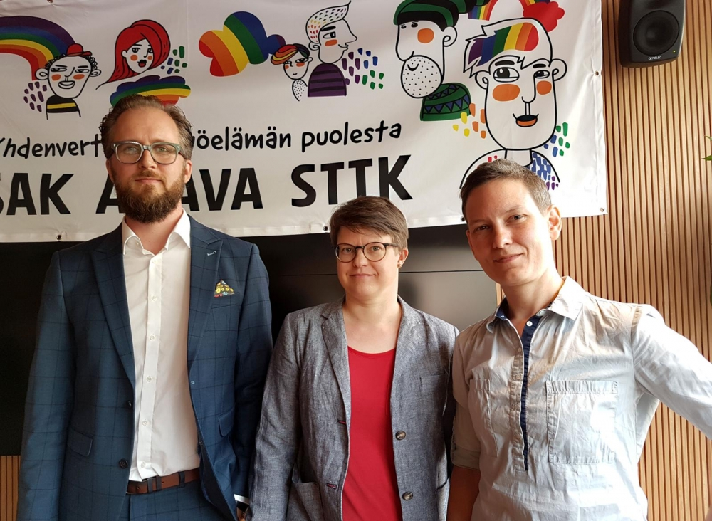 Jussi Aaltonen, senior officer at the Office of the Ombudsman for Equality, Kerttu Tarjamo, Secretary General at Seta - LGBTI Rights Finland and Anna Moring, senior advisor at the Diverse Families network list concrete things for promoting equality at the workplace.