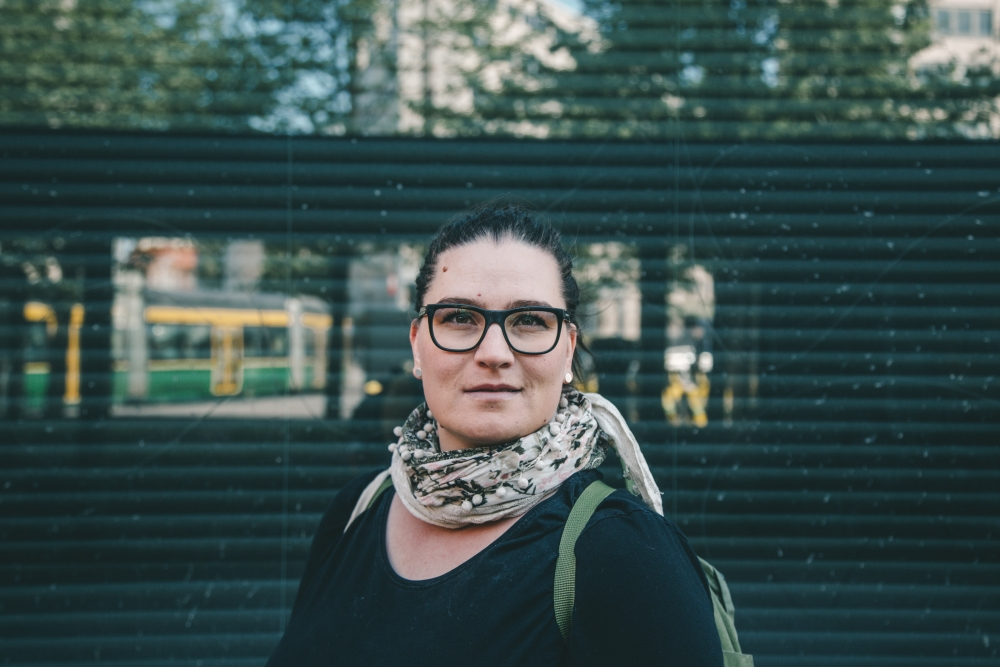 Mira-Veera Auer valittiin vasemmistoliiton puoluevaltuuston varapuheenjohtajaksi. Kuva: Laura Mainiemi