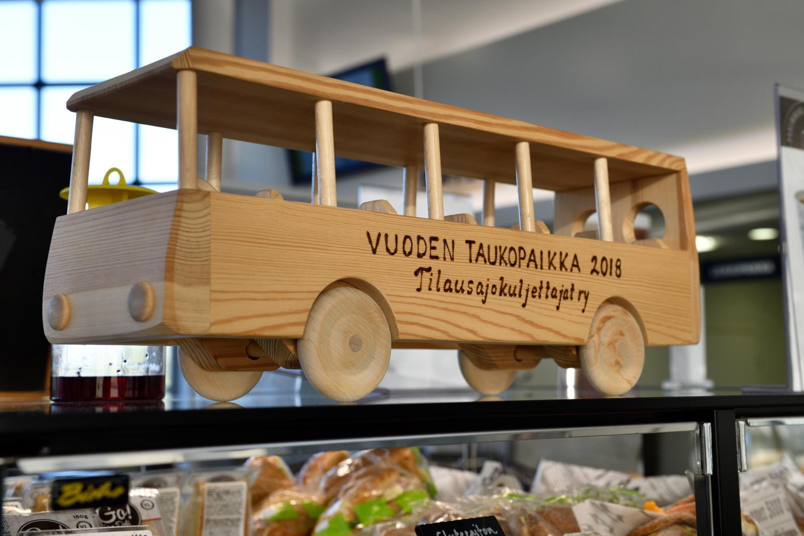 Suomen tilausajokuljattajat ry valitsi Linnatuulen vuoden 2018 parhaaksi taukopaikaksi. Kuva: Harri Nurminen