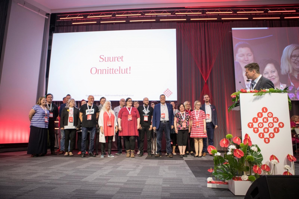 The new Executive Committee of PAM was elected at the Union Congress in Helsinki on 5 June 2019. Photo: Eeva Anundi