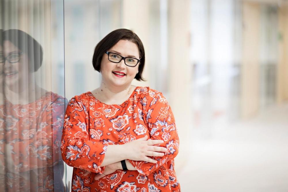 Mari Taivainen on PAMin kansainvälisen järjestäytymisen asiantuntija. Kuva: Eeva Anundi