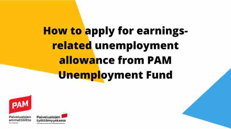 How to apply for earnings-related unemployment allowance - watch this video