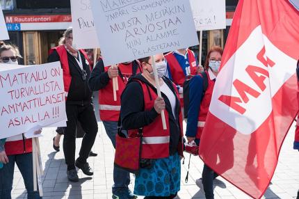 Demonstration på turismbranschens vägnar -