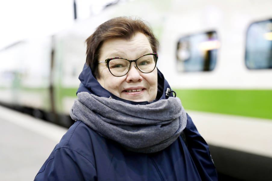 """""""Jag tackar alla arbetstagare för det stöd jag har fått under förhandlingarnas gång"""", säger Avecras huvudförtroendeman Tuula Pihlajamaa. Bild:Liisa Takala"""
