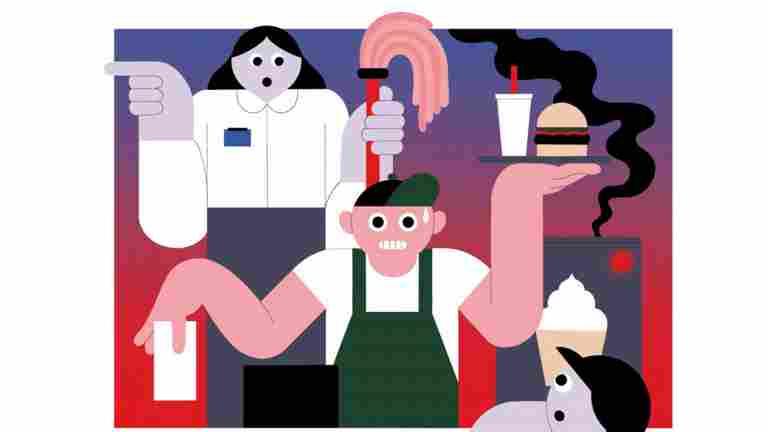 Pikaruokaravintoloiden työntekijät paineen alla