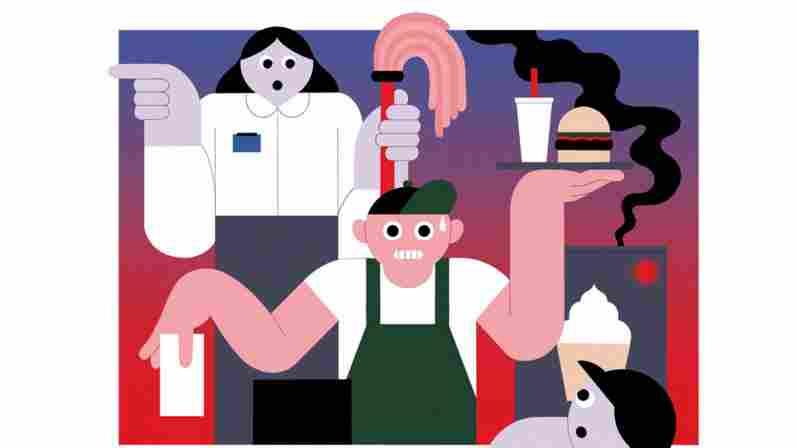 Fast food workers under pressure