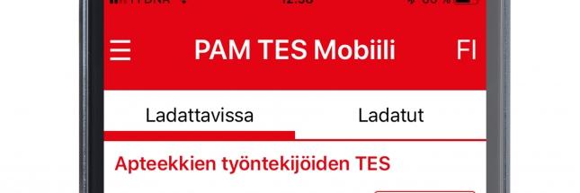 PAMin työehtosopimukset mobiilisovelluksena