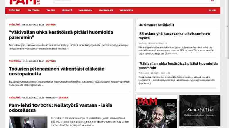 Pam-lehden ja PAMin verkkosivut uudistuivat