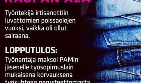 PAM käsittelee vuosittain n. 1500 jäsenten erimielisyystapausta. Tässä yksi niistä. 🖒 Kun kuuluu PAMiin, on oikeutettu työsuhdeneuvontaan ja riitatapauksissa oikeusapuun. pam.fi/liity ⬅ #vainpamjutut #oikeusapujäsenille #oikeusvoitti #hyvinkävitaas #pidämmepuoltasi #pidähuoltaoikeuksistasi #palveluala #duunissa #töissä #kaupassa #kaikkieiolesallittua #igersfinland #picoftheday #yhdessaolemmevahvempia #kaupantäti #kaupansetä