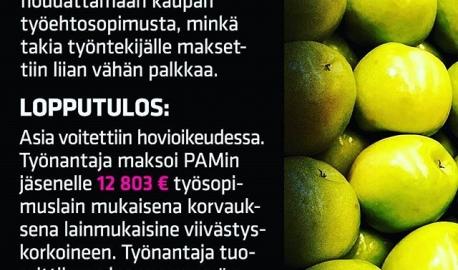 Töissä ei kaikki mene aina putkeen. Omista oikeuksista kannattaa olla selvillä! Yksityisillä palvelualoilla on nimittäin joka vuosi tuhansia väärinkäytöksiä. PAM hoitaa jäsentensä puolesta n. 1500 erimielisyystapausta vuodessa. Tämä tapaus on yksi niistä. 💪💪💪PAMin jäsenyys kannattaa! www.pam.fi/liity.  #vainpamjutut #töissä #duunissa #työpäivä #työpaikka #kaupassa #palveluala #pamjeesaatyöntekijää #työntekijä #palkka #liksa #liitypamiin