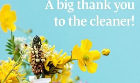Kiitä siivoojaa! Siivoustyö on usein näkymätöntä, vaikka siivoamatta jättämisen huomaisimme kyllä heti. Siivoojien ansiosta ympäristö on puhdas ja viihtyisä, taudit eivät leviä, kiinteistöt pysyvät kunnossa ja niiden arvo säilyy. Muista siis kiittää siivoojaa ja osoittaa arvostavasi hänen työtään!  Thank you to the cleaner! Cleaning work often remains hidden, but in case of no cleaning, it would be noticed immediately. Thanks to our cleaners, our work environment is kept clean and pleasant, whereas diseases don't spread and facilities stay tidy and their asset value intact. Remember to say thank you to the cleaners and show them that you appreciate their work! #oikeuttasiivoojille #kiitäsiivoojaa #arvostasiivoojaa #justiceforcleaners #siivousala #vainsiivoojajutut #vainpamjutut #eipöpöjä #palveluala #ammatti #töissä #arvostamme #tärkeätyö #puhdasta