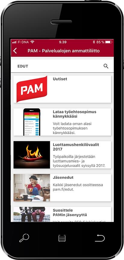 Mobiilikortissa olevien lisätoimintojen avulla voi lukea ajankohtaisia uutisia sekä jäsenetutarjouksia milloin ja missä vaan.