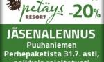 Jäsenetu: Puuhaniemen Perhepaketti 11.6.-31.7.