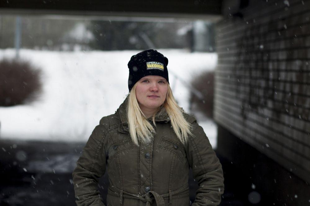 Krista Fagerlundille nollasopimus ei toiminut tienä takaisin vartijan töihin. Kuva: Miisa Kaartinen