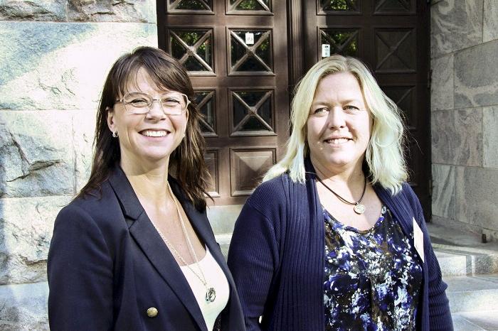 Matilda Mieling ja Ewa Björkman edustavat työnantaja- ja työntekijäpuolta Ruotsissa. Kuva:Marja Ikkala
