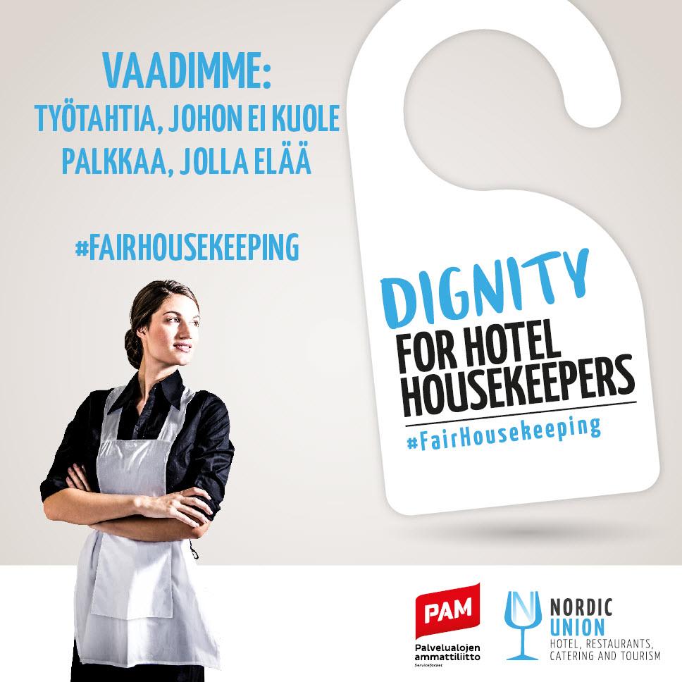 PU HRCT:n hallituksen kannanotto: Vaadimme oikeudenmukaisia työehtoja hotellisiivoojille!