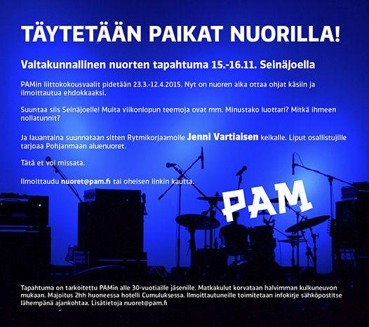 Valtakunnallinen nuorten tapahtuma Seinäjoella marraskuussa